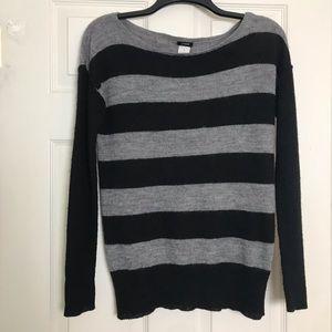 J Crew alpaca/wool boatneck sweater Sz M